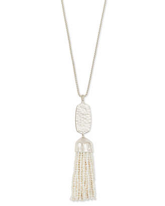 Kendra Scott Monroe Silver Long Pendant Necklace