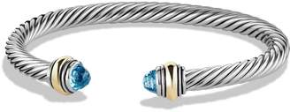 David Yurman Cable Classics Bracelet with Semiprecious Stones & 14K Gold Accent, 5mm