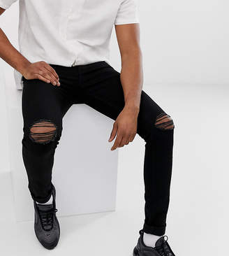 Asos Design DESIGN Tall recycled super skinny jeans with knee rips