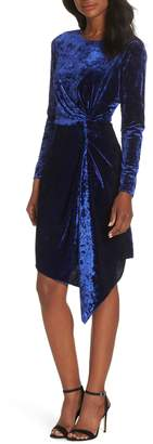 Maggy London Side Drape Velvet Dress