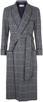 Daniel Hanson Check Wool Robe