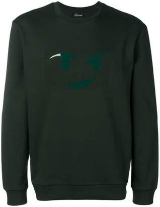Emporio Armani printed smiley jumper