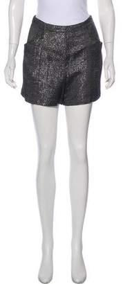 L'Agence Metallic Mini Shorts