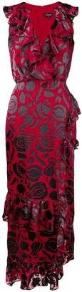 Saloni Anita floral printed ruffle dress