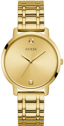 GUESS Women Diamond-Accent Gold-Tone Stainless Steel Bracelet Watch 40mm