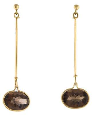 Georg Jensen 18K Smoky Quartz Drop Earrings