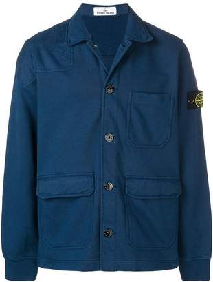 Stone Island multi-pocket shirt jacket
