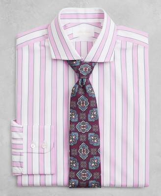 Brooks Brothers Golden Fleece Milano Slim-Fit Dress Shirt, English Collar Multi-Stripe Poplin