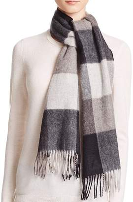 Bloomingdale's C by Cashmere Plaid Scarf - 100% Exclusive