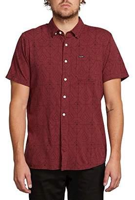 Volcom Men's GEO Print Short Sleeve Woven Button UP Shirt