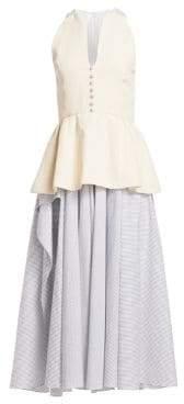 Rosie Assoulin Plunge Peplum Dress