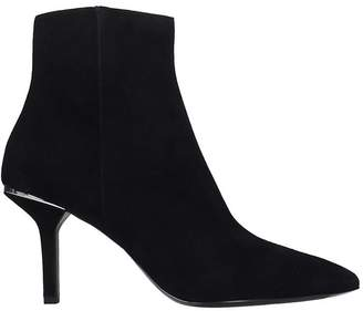 Michael Kors Katerina Ankle Boots In Black Suede