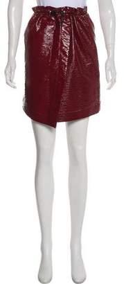 Designers Remix Charlotte Eskildsen Patent Vegan Leather Skirt