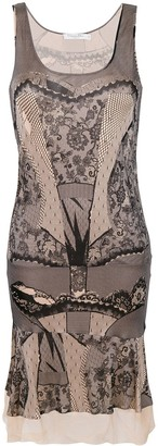 Christian Dior Pre-Owned lace print sleeveless dress