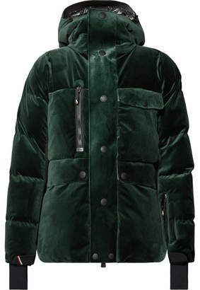 Moncler Genius - 3 Telluride Stretch-Shell Trimmed Velvet Hooded Down Jacket - Green