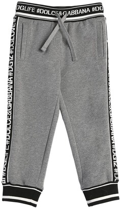 Dolce & Gabbana Logo Bands & Queen Cotton Sweatpants