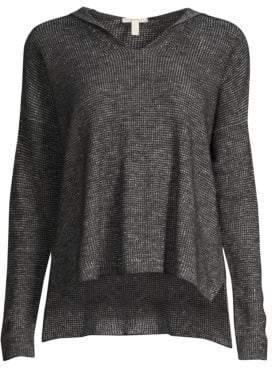 Eileen Fisher Organic Cotton & Linen Knit Hoodie
