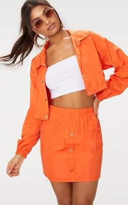 PrettyLittleThing Camel Shell Suit Jacket