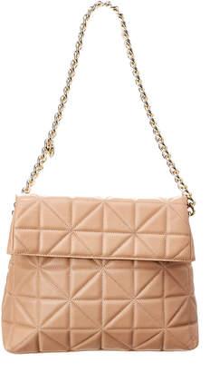 Karen Millen Quilted Leather Regent Shoulder Bag