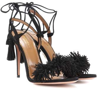 Aquazzura Wild Thing 105 suede sandals