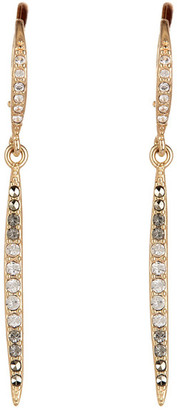 Judith Jack 10K Gold Plated Sterling Silver Crystal & Swarovski Marcasite Pave Spike Drop Earrings $115 thestylecure.com