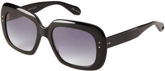 Garrett Leight Black Amoroso XL Square Sunglasses