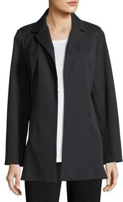 Misook Notch-Lapel Stretch-Cotton Jacket