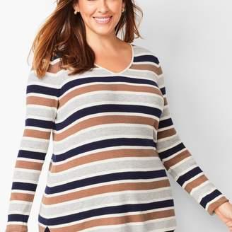 Talbots V-Neck Sweater - Stripe