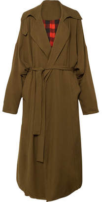 Preen by Thornton Bregazzi Lana Oversized Reversible Twill Coat - Army green