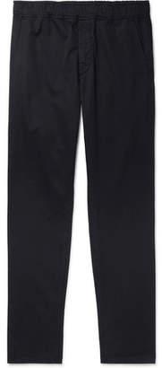 Bottega Veneta Midnight-Blue Garment-Dyed Cotton Trousers - Men - Navy