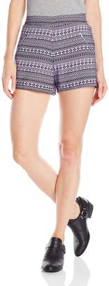 She's Cool Junior's Polyester Crepe 2 Zipper Short