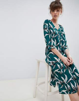 Ichi Tropical Leaf Shift Dress