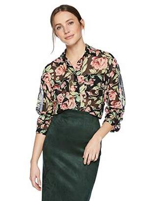 The Kooples Women's Floral Button-Down Blouse with Front Pockets
