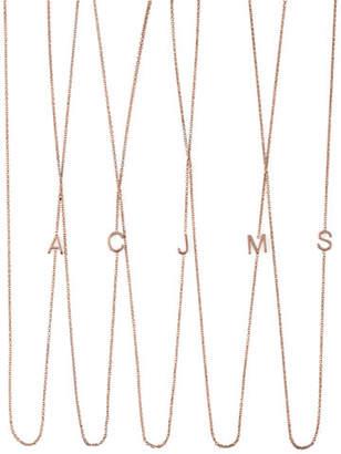 Maya Brenner Designs 14k Rose Gold Mini Letter Necklace