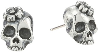 King Baby Studio - Sakura Skull Stud Earrings Earring $170 thestylecure.com