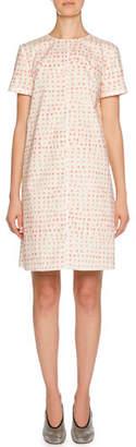 Marni Short-Sleeve Polka-Dot Print Cotton Dress