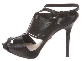 L.A.M.B. Leather Caged Sandals