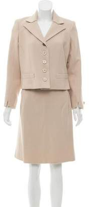 Louis Vuitton Woven Knee-Length Skirt Suit