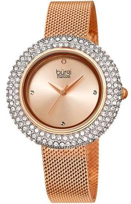 Burgi Rose Gold Tone Wrist Watch [BUR220RG]