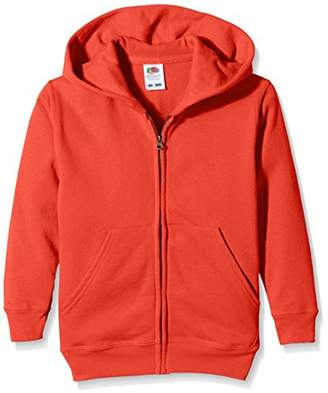 Fruit of the Loom Unisex Kids Zip Front Classic Hooded Sweat,(Manufacturer Size:34)