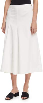 Joseph Smith Side-Button A-line Chino Skirt