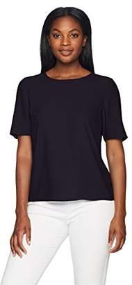 Lark & Ro Women's Short Sleeve T-Shirt Blouse