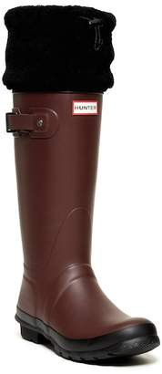 Hunter Tall Genuine Shearling Cuff Boot