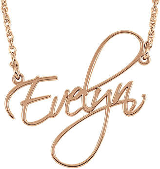 FINE JEWELRY Personalized 27mm Cursive Name Pendant Necklace