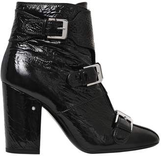 Laurence Dacade 95mm Patou Wrinkled Patent Leather Boots