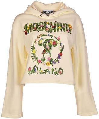 Moschino Embroidered Flower Hoodie