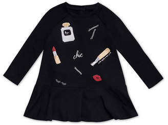 Kate Spade Glamour Collage Long-Sleeve Dress, Size 2-6x