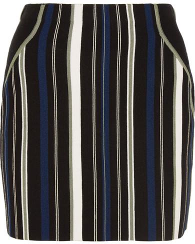 3.1 Phillip Lim3.1 Phillip Lim - Striped Stretch Cotton-blend Mini Skirt - Black