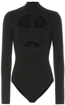 David Koma Cut-out cotton bodysuit