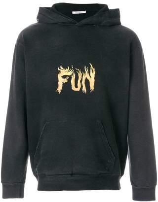 Givenchy Fun flame print hoodie